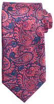 John Lewis Intricate Paisley Silk Tie, Pink/navy