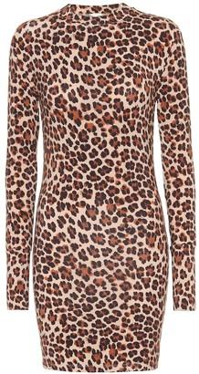 Caroline Constas Leopard-print jersey dress