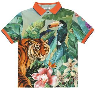 Dolce & Gabbana Printed cotton polo shirt