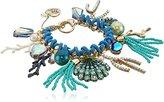 Betsey Johnson Sea Shell Mixed Multi-Toggle Charm Bracelet