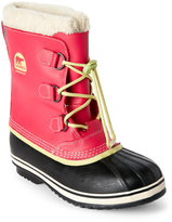 Sorel Kids Girls) Bright Rose Yoot Pac TP Faux Fur Cuff Boots