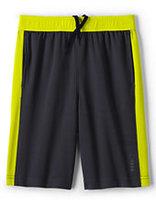 Classic Boys Husky Active Mesh Shorts-Blue Seersucker Stripe