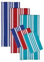 Nobrand No Brand Beach Stripe Dishtowel Set - Multi-Colored