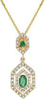 Diana M Fine Jewelry 14K 0.48 Ct. Tw. Diamond & Emerald Necklace