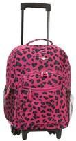 """Rockland Rolling Backpack - Magenta Leopard (17"""")"""