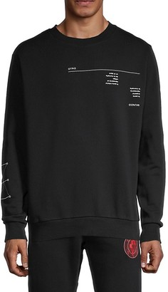 Marcelo Burlon County of Milan Graphic Cotton Sweatshirt