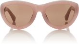 Dries Van Noten Pink Cat-Eye Acetate Sunglasses