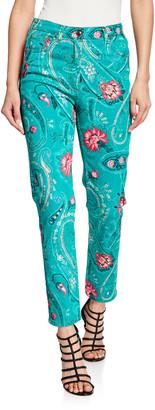 Etro Floral-Print Jeans