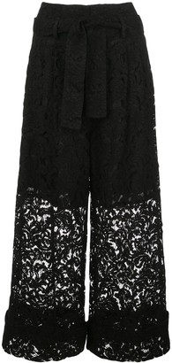 Adam Lippes Tie-Waist Lace Culottes