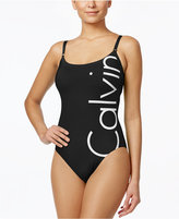 Calvin Klein Logo Classic One-Piece Swimsuit Women's Swimsuit