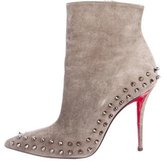 Christian Louboutin Willeta 100 Suede Booties