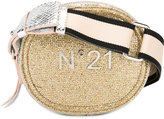 No.21 logo plaque shoulder bag - women - Leather/Lurex/Polyamide - One Size