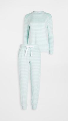 Emerson Road Fuzzy Luxe Crew Jogger Pajama Set