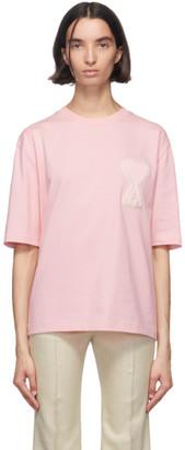 Ami Alexandre Mattiussi SSENSE Exclusive Pink Ami De Coeur T-Shirt