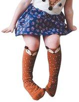 Blackobe Little Fox Pattern Unisex-baby Knee High Socks Tube Socks For Kids Age 0-6 Years