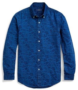 Ralph Lauren Slim Fit Floral Jacquard Shirt