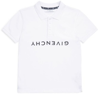 Givenchy Kids Upside-Down Logo Polo Shirt