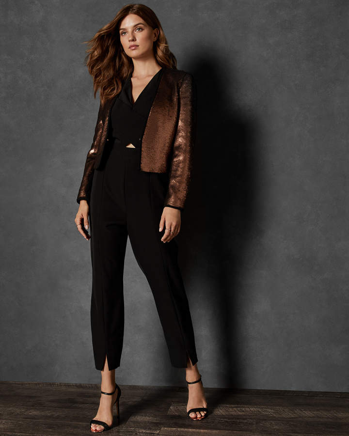 Ted Baker ZALEE Cropped sequin jacket