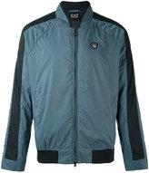 Emporio Armani logo patch bomber jacket