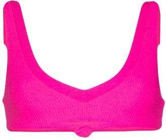 Frankie's Bikinis Austin knot-front bikini top