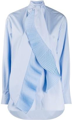 Givenchy Pleated Scarf-Collar Shirt