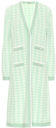 Miu Miu Houndstooth wool-blend cardigan