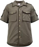 Moncler Gamme Bleu grosgrain trim flap pocket shirt - men - Cotton - 1