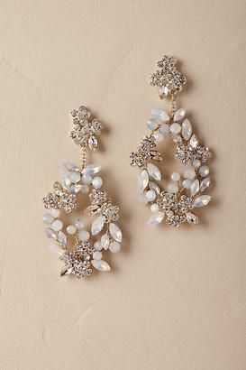 Anthropologie Kora Chandelier Earrings By in Gold Size ALL