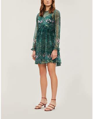 Ted Baker Floral-print chiffon mini dress