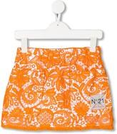 No.21 Kids lace mini skirt
