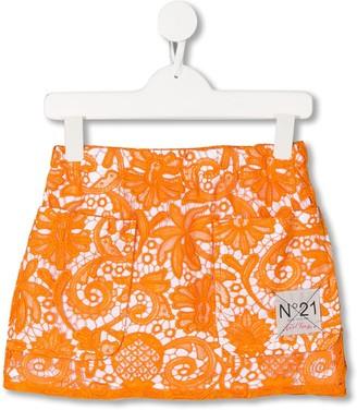 No21 Kids Lace Mini Skirt