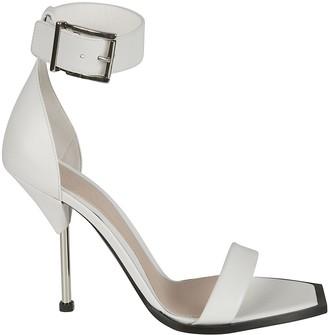 Alexander McQueen High Ankle Buckle Strap High Heel Sandals