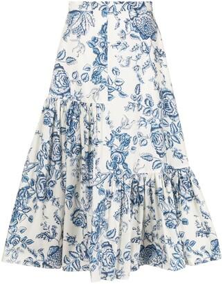 Erdem Gaura floral-print midi skirt
