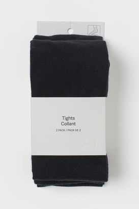 H&M 2-pack Fine-knit Tights - Black