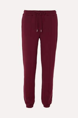 Ninety Percent Organic Cotton-jersey Track Pants - Burgundy