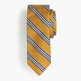 J.Crew Silk tie in yellow wide stripe