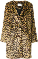 Just Female faux fur leopard print coat