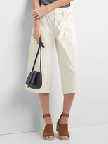 Gap High rise tie-belt denim culottes
