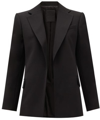Valentino Single-breasted Wool Grain De Poudre Jacket - Black