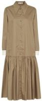 Tibi Tech cotton-poplin shirt dress