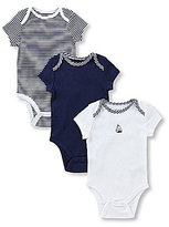 Little Me Baby Boys Newborn-9 Months Sailboat 3-Pack Bodysuits