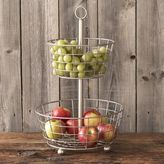 Sur La Table Brushed Aluminum Two-Tiered Stand