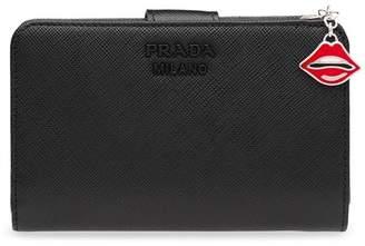 Prada medium Lips charm wallet