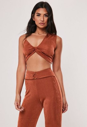 Missguided Co Ord Slinky Asymmetric Bralet