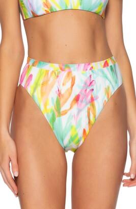 Becca Coral Reef High Waist Bikini Bottoms