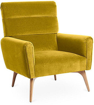 Kim Salmela Devon Accent Chair - Citrine Velvet