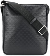 Emporio Armani embossed logo messenger bag