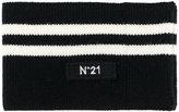 No.21 stripe scarf - women - Polyamide/Spandex/Elastane/Wool - S