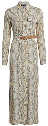 Lafayette 148 New York Doha Python Print Shirtdress