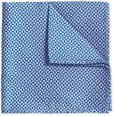 Royal And White Diamond Geometric Classic Silk Pocket Square Size Osfa By Charles Tyrwhitt